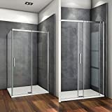 120x80x195cm Mamparas de ducha cabina de ducha 6mm vidrio templado de Aica