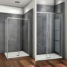 105x195cm Mamparas de ducha puerta de ducha 6mm vidrio templado de Aica