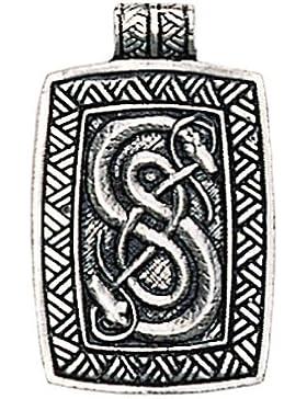 Schlangen von Urnes Amulett Anhänger Talisman - Geschick und Einfallsreichtum