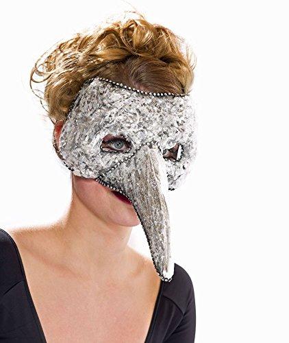 Festartikel Müller Venezianische Maske Pantalone in Silber Karneval Fasching - Pantalone Kostüm Und Maske