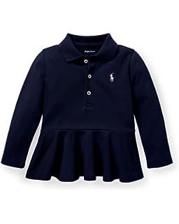 Top Authentic 18m Purple Ralph Lauren Baby Girl Long Sleeve Polo Shirt
