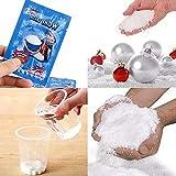 TAOtTAO Fake Snow 5 Stück Magic Instant gefälschte Flauschige Schnee super saugfähigen Weihnachten Hochzeit Dekor