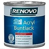 Acryl-Buntlack Schwarz 0,375 Liter glänzend Acryllack (15,97 Euro/Liter)