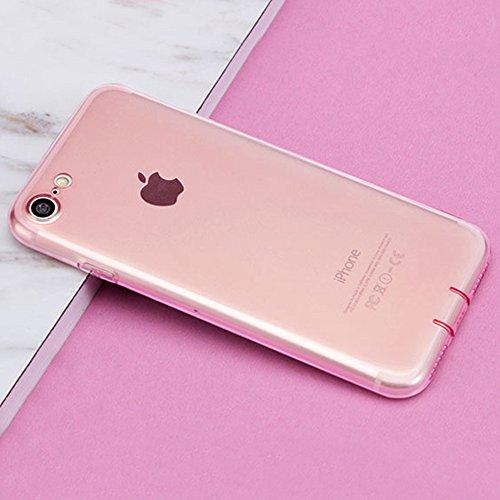 MicBridal® iPhone 6 / 6S/ 6P/ 6SP Hülle Gradient Transparent Farbe Bildserie Weich Silikon Schutzhülle Ultradünnen- Case für Apple iPhone 6 / 6P Schutz Hülle Transparent (Iphone7, 7/7Plus Schwarz) 7/7Plus Pink