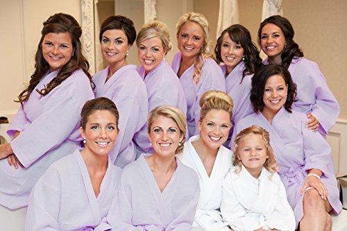 CityComfort, Damen-Bademantel aus reiner Baumwolle, Morgenmantel mit Waffel-Muster, leichter Kimono, entspannend und bequem, wie in einer Therme, Größen: 36-38, 40-42, 44-46, 48-50 Lilac