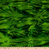 Benartex Bali Batiks Colorama II Cloud Emerald Fabric
