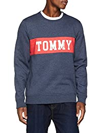 Tommy Jeans Herren Panel Logo Langarm Sweatshirt Langarmshirt