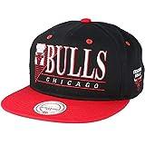 Mitchell & Ness Snapback Cap der Chicago Bulls - Schwarz und Rot - Vintag Logo