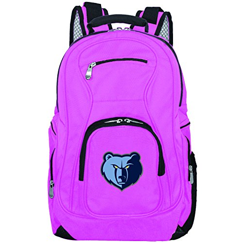 DENCO NBA Memphis Grizzlies Voyager Laptop Backpack, 19-inches, Pink