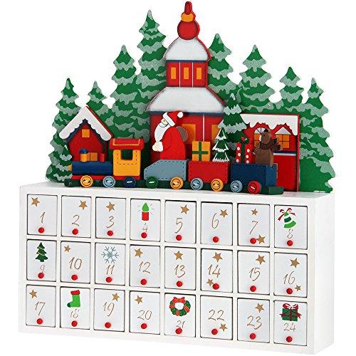 """Adventskalender """"Weihnachtslandschaft"""" zum Befüllen"""