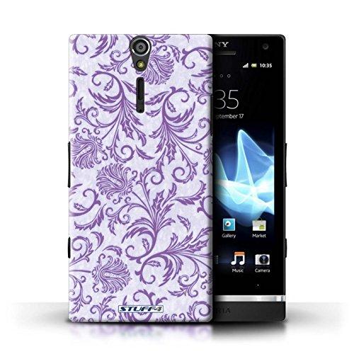 Kobalt® Imprimé Etui / Coque pour Sony Xperia S/LT26i / Fleurs Rouges conception / Série Fleurs Fleurs Mauves