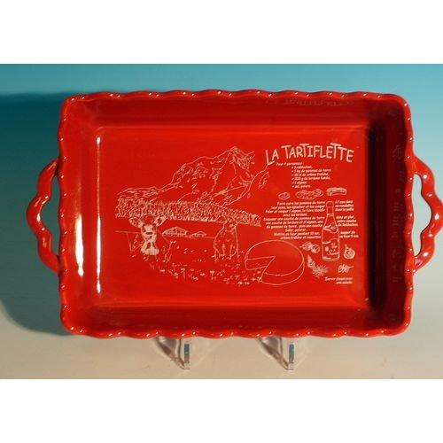 TABLE&COOK Plat rectangulaire 'festonne' tartiflette 40 cm - TFR401-01010C