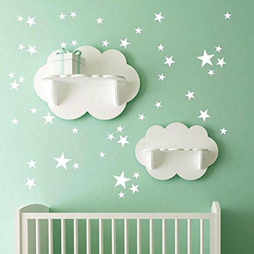 ❤️Pegatinas de pared❤️Dragon868 38Pcs Little Stars vinilo mural pegatinas de pared (blanco)