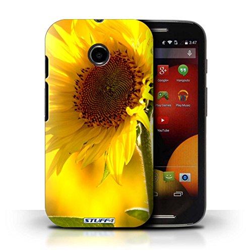 Kobalt® Imprimé Etui / Coque pour Motorola Moto E (2014) / Champs de fleurs conception / Série floral Fleurs Fleur jaune