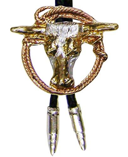 modestone-unisex-bolo-bull-head-lasso-silver-bullets-o-s-silver