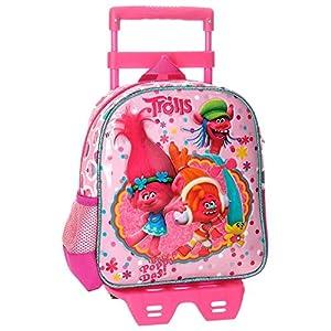 51zS1nwEEQL. SS300  - Trolls Happy Mochila Infantil, 25 cm, 5.75 Litros, Rosa