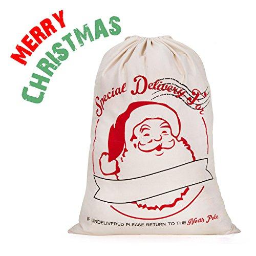 Hblife Navidad De Arpillera Sacos De Papá Noel Rústico