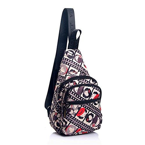 HYSENM Bodybag Blume Regendicht Modern Crossbag Umhängetasche Sling-Rucksack, Kinder-Film Kinder-Film