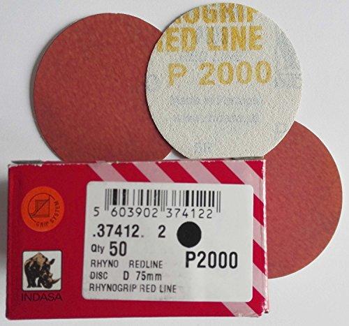 Preisvergleich Produktbild INDASA Excenter 50 Schleifscheiben 75 mm Klett Korn 2000/P 2000 *37412