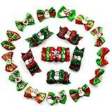 APig 20 Piezas de Goma Navidad de Pelos para Perros y Gatos, Bandas de pelos para Mascotas