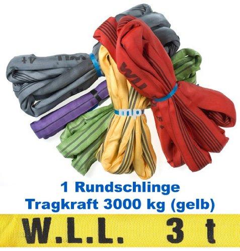 1 Round Sling Lifting Belt Hebeschlinge 3 x 4 M Circumference Test