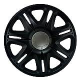 15 Zoll Radzierblenden NASCAR BLACK (Schwarz Seidenmatt). Radkappen passend für fast alle VW Volkswagen wie z.B. Golf 6 Carbio!