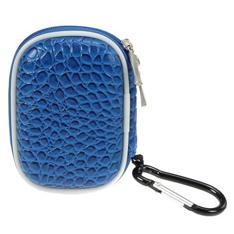 BIRUGEAR Schutztasche Aufbewahrungsbox l für Wireless Bluetooth 3.5 mm Hands-free Kopfhörer Sport-kopfhörer Ohrhörer( Blau