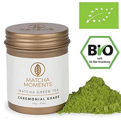Thé Vert Matcha Qualité Cérémonielle Bio 30g (connu de la VOGUE) | Organic Ceremonial Grade Matcha Tea | Matcha Thé Bio de Japon