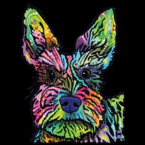 Hunde T-Shirt Hundefreunde Hundemotiv - Geschenk Geburtstag Weihnachten Papa Mama Neon Motiv Stella Schwarz