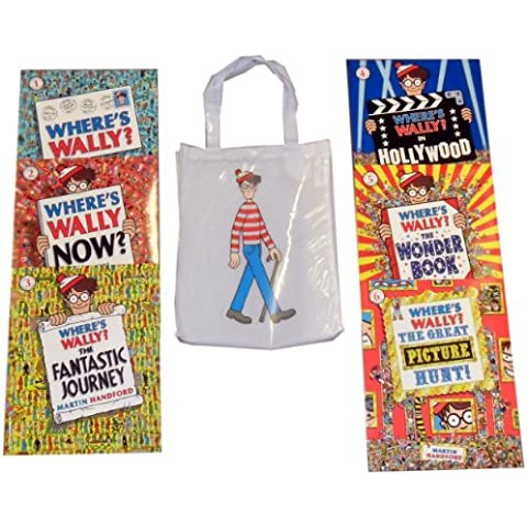 Where's Wally Collection 6 Books Set RRP : £ 41.94 (Where's Wally, Where's Wally Now?, Where's Wally? In Hollywood, Where's Wally? The Fantastic Journey, Where's Wally? The Wonder Book, Where's Wally? The Great Picture Hunt) (Where's Wally) - Hunt Picture
