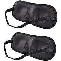 BlueBeach® Paquete de 2 Viajar Antifaces para dormir / 3D Antifaces para los ojos / Perfecto Máscara de noche Diseño contorneado para un sueño extra cómodo Viajes y uso doméstico