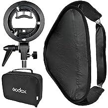 GODOX Soporte de modificador Kit de luz luz softbox 60x60cm/80x80cm caja + nueva forma de S Sabot de flash (Monte Bowens)