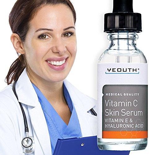 VITAMIN C Serum für Tag mit Hyaluronsäure Serum, Vitamin E, Anti Aging,...