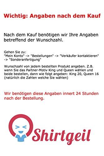 Pärchen T-Shirt Motiv Beauty & Beast Mit WUNSCHNUMMER T-Shirt Hellblau