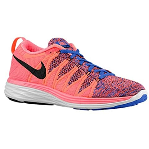Nike Flyknit Lunar2, femme, bright mango black game royal hyper