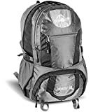 SUR5AL Wanderrucksack YUKON 50L Trekkingrucksack Reiserucksack Outdoor Grau/Schwarz