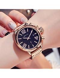 YANRR Decoración Casual botón Grande Reloj Mujer Moda Tendencia Grandes señoras de Cuarzo ...