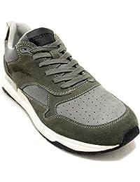 Lumberjack Detroit Sneakers Uomini Grigio Kaki Sneakers Basse 056055836b4