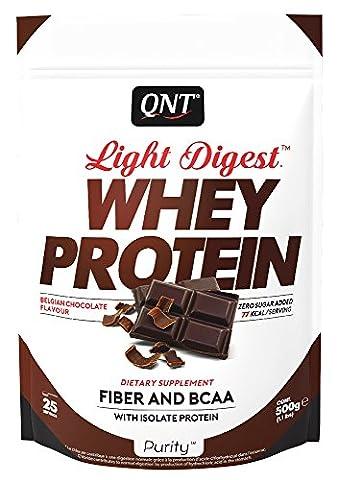 QNT Light Digest Whey Protein Supplement, 500 g, Chocolate
