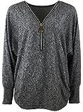 Emma & Giovanni - Damen - Langarmshirt - Pullover - Top & Shirt (M/L, Ärmel - Schwarz)