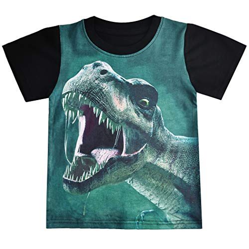 Niño Dinosaurio 3D Impreso Pullover Camiseta de Manga Corta Niños Jogging Chándales Ropa Jumper Streetwear...