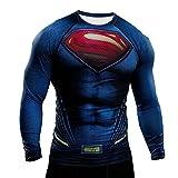 Samanthajane Clothing-Maglietta-da Uomo, Multicolore Multicolore - Man of steel Long sleeve S