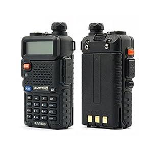 BaoFeng UV-5R 136–174/400–480MHz VHF/UHF double bande Amateur Appareil (2m) Noir
