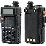BAOFENG UV-5R 136-174/400-480MHz VHF/UHF Dual-Band Amateur Handfunkgerät, Schwarz