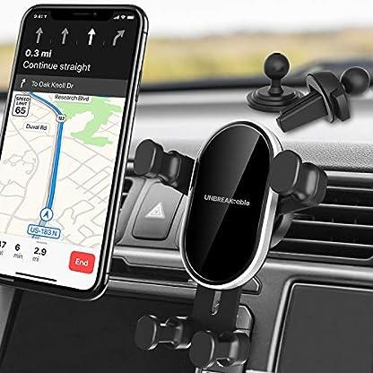 UNBREAKcable-Handyhalter-frs-Auto2-in-1-Lftungsschlitz-Armaturenbrett-Pkw-Freisprech-Telefon-Halterung-Handyhalterung-Auto-KFZ-Handy-Halter-mit-Gummipad-fr-iPhone-Samsung-Huawei-usw