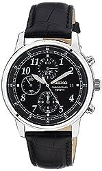 Seiko Dress Chronograph Black Dial Mens Watch - SNDC33 (Certified Refurbished)