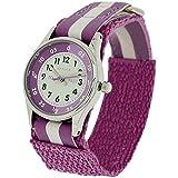 Reflex Mädchen Datum klassisch Quarz Uhr mit Stoff Armband REFK0004