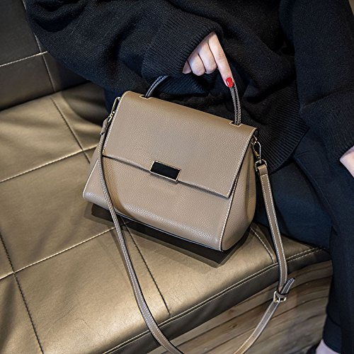 Umhängetaschen Single Schultertasche Handtasche Satchel Retro Atmosphäre All-Match koreanischen Mode Frauen Paket b