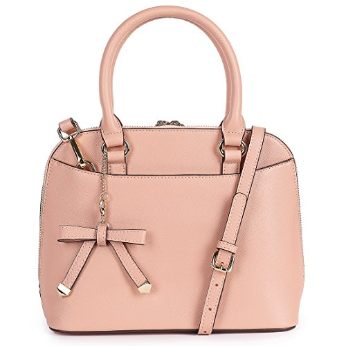 sakco-womens-chic-leather-zip-around-structured-satchel-tote-bag-pink-grace