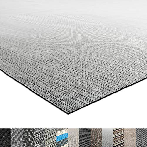 casa pura® Indoor- und Outdoor-Bodenbelag Bologna | kunstvoll gewebt | als Teppich oder Läufer | 40 Größen (180x200cm)
